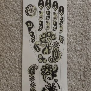 Other - Glitter Mehndi Henna temporary body Tattoo hands